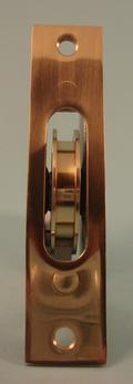 "THD271 Ball Bearing - Standard Case, 1.75"" Brass Wheel Pulley with Square Solid Brass Faceplate"