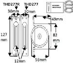 "THD277 2 1/4"" HD Brass Pulley - Square Faceplate"
