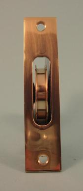 THD241 Brass Wheel Sash Axle Pulley with Square Faceplate