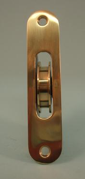 "THD270 Ball Bearing - Standard Case, 1.75"" Brass Wheel Pulley with Radius Solid Brass Faceplate"