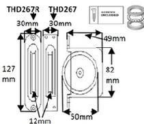 "THD267 Heavy Duty 2"" Pulley Square Faceplate"