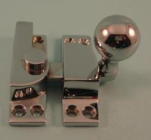 THD105/CP Straight Arm Fastener - Standard - Ball Knob in Chrome Plated