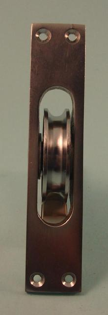 THD160/SCP Heavy Cast Sash Axle Pulley in Satin Chrome