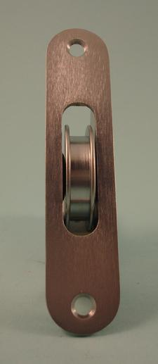 THD190/SCP Brass Wheel, Radius Brass Face Plate in Satin Chrome