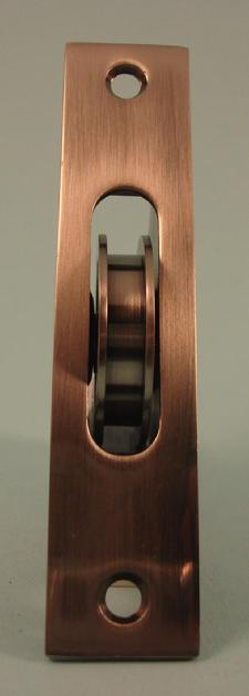 "THD271/AN Ball Bearing - Standard Case, 1.75"" Brass Wheel Pulley with Square Solid Brass Faceplate in Antique Nickel"