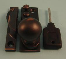 THD197L/AC Claw Fastener - Ball Knob - Locking - Antique Copper