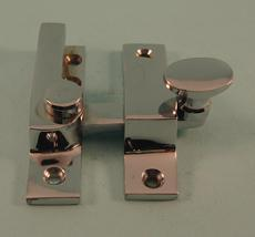 THD101N/CP Straight Arm Fastener - Narrow - Oval Knob in Chrome Plated