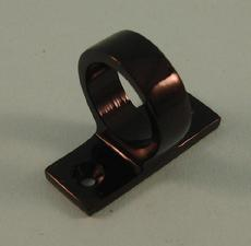 THD187/BLP Sash Eye - Square End in Black Polished