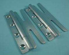 THD094/SCP Slimple Hinge - Slim (Pair) in Satin Chrome Plated