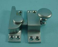 THD099/SCP Straight Arm Fastener - Raised Round Knob - Standard in Satin Chrome Plated