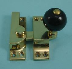 THD104CB Straight Arm Fastener - Ceramic - Black Knob - Standard: Non-Locking