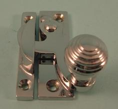 THD113/CP Clo Fastener - Reeded Knob - Non Locking in Chrome Plated