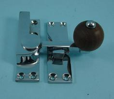 THD157WR/CP Quadrant Fastener - Rosewood Knob in Chrome Plated