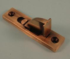 THD193S/AB Weekes Sash Stop, Square End in Antique Brass