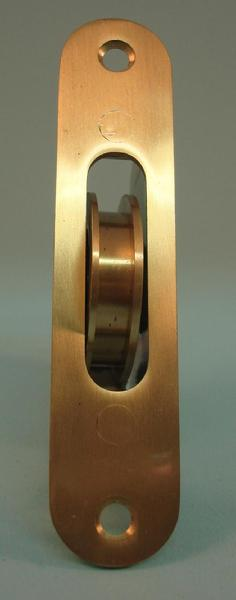 "THD270/SB Ball Bearing - Standard Case, 1.75"" Brass Wheel Pulley with Radius Solid Brass Faceplate in Satin Brass"