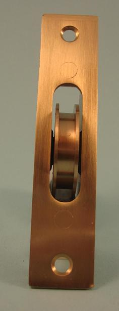 "THD271/SB Ball Bearing - Standard Case, 1.75"" Brass Wheel Pulley with Square Solid Brass Faceplate in Satin Brass"