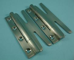 THD094/SNP Slimple Hinge - Slim (Pair) in Satin Nickel Plated