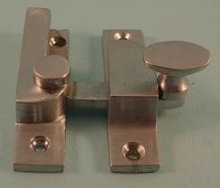 THD101N/SCP Straight Arm Fastener - Narrow - Oval Knob in Satin Chrome