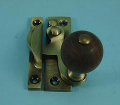 THD108WR/AB Claw Fastener - Non Locking - Rosewood Knob in Antique Brass