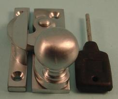 THD197L/SCP Clo Fastener - Ball Knob - Locking - Satin Chrome
