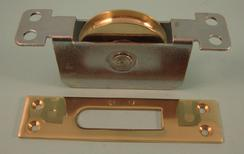 "THD277 Ball Bearing - Heavy Duty, 2.25"" Brass Wheel Pulley with Square Faceplate"