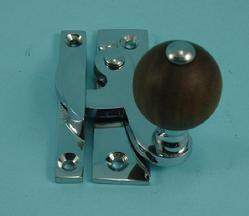 THD108WR/CP Claw Fastener - Non Locking - Rosewood Knob in Chrome Plated