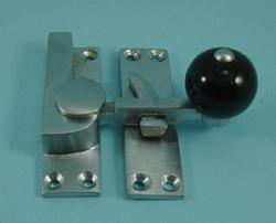 THD157CB/SCP Quadrant Fastener - Black Ceramic Knob in Satin Chrome