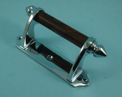 THD238WR/CP Victorian Sash Handle - Rosewood Bar in Chrome Plated