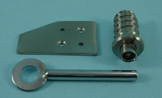 THD181/SNP Flush Sash Stop in Satin Nickel